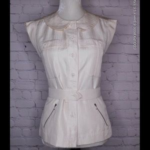 Chanel Silk Blouse CC Buttons. Size 36